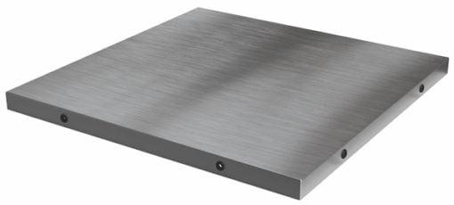 Platte aus Edelstahl für Tisch